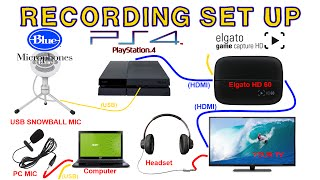 HOW TO CAPTURE EVERYTHING ELGATO HD & HD60 PS4 USB MICROPHONE