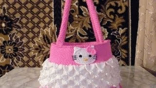 getlinkyoutube.com-how to crochet hello kitty purse bag free tutorial pattern