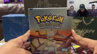 getlinkyoutube.com-Pokemon: Mewtwo Strikes Back! Topps Booster Box Opening | #Pokemon20