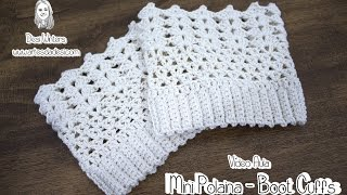 Mini Polaina - Boot Cuffs de crochê