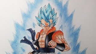 getlinkyoutube.com-Drawing Gogeta  Super Saiyan Blue