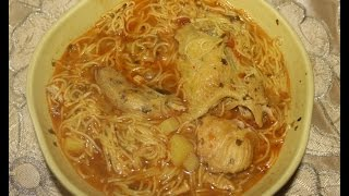 getlinkyoutube.com-Soupe au légumes et poulet ...  شربة بالخضار والدجاج جد لذيذة