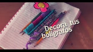 getlinkyoutube.com-5 formas de decorar tus bolígrafos ♥ DIY PARTE 1