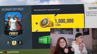 getlinkyoutube.com-DAS 1.000.000 COINS TOTY PACK MIT MEINER SCHWESTER!! ⛔️🔥😱 FIFA 17 PACK OPENING