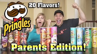 getlinkyoutube.com-PRINGLES CHALLENGE Parents Edition!!! Can You Guess the Potato Chip Challenge!