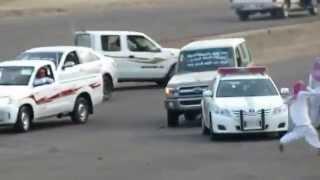 getlinkyoutube.com-صدم سيارة الشرطة - جربعة حكايم في الطايف - ساحة سيسد