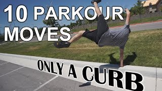 10 Parkour Moves Using Only a Curb width=