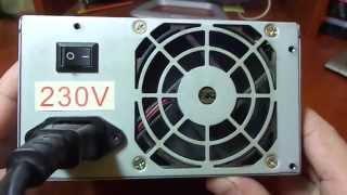 getlinkyoutube.com-Как подключить автомобильный компрессор к компьютерному блоку питания 12В