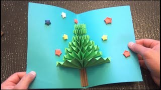 getlinkyoutube.com-DIY 3D Christmas Pop Up Card | Very Easy | How to make | TCraft
