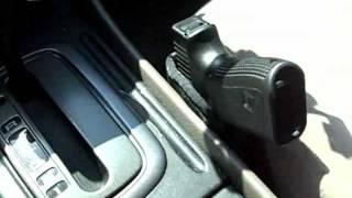 getlinkyoutube.com-Vehicle carry gun method, Glock 19 car carry.