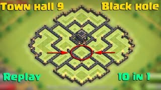 getlinkyoutube.com-Clash of clans - Town hall 9 (TH9) Black hole/Farming/Hybrid/Trophy/Dark base [The Creativity] 2015