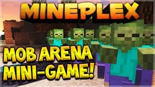 getlinkyoutube.com-MOB ARENA BATTLES! Mineplex Pocket Edition NEW Mini-Game OMG! Giant Wither Skeleton! (MCPE)