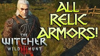 getlinkyoutube.com-ALL WITCHER 3 RELIC ARMORS! (& Other Sets)
