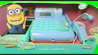 getlinkyoutube.com-Worlds Best Deluxe Toy Cash Register Till & Scanner Set with the Minions