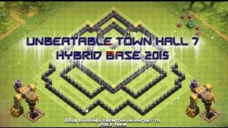 "getlinkyoutube.com-""Unbeatable Town Hall 7 Hybrid Base"" 