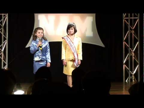 Sydney C at National American Miss Mass Jr. preteen personal intro.