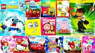 getlinkyoutube.com-60 Surprise Blind Bags Lego Mixels Ben 10 Angry Brids Spongebob Disneyland Cars 2 Peppa Pig Sorpresa