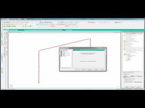 STAAD.Pro V8i Basics (Part 3 - Video) Adding Loads
