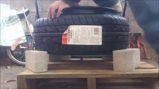getlinkyoutube.com-ひっぱりタイヤを作ろー ビード爆発 tire stretch  引っ張り