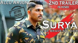 Surya - The Brave Soldier | Allu Arjun Latest Hd hindi dubbed 2nd Trailer