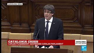 Full speech: Catalan leader claims mandate for independence, but seeks talks with Madrid