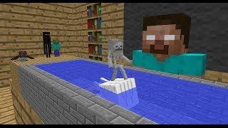 getlinkyoutube.com-Monster School: Swimming - Minecraft Animation