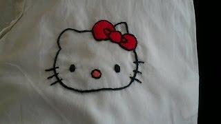 getlinkyoutube.com-تعلم طرز باليد|الدرس الرابع|طرزشخصية كرتونية_:Hand Embroidery Hello Kitty (easy)