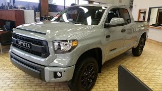 getlinkyoutube.com-2017 Toyota Tundra TRD Pro Double Cab in Cement Grey Full Feature Review