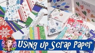 getlinkyoutube.com-Using up Scrap Paper - DIY Christmas Gift Tags, Mini Bags and Stars - Ma'at Silk