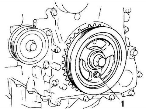 Прикипел шкив на валу/безшпоночный ДВС Ford Mazda