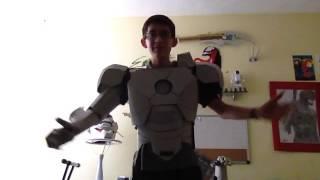 getlinkyoutube.com-Traje de Iron Man, 100% cartón, actualización