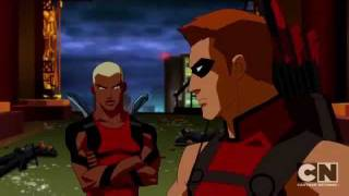 Aqualad and Red Arrow vs SportsMaster and Cheshire