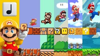 getlinkyoutube.com-Super Mario Bros. - Overworld Music - In 4 Styles (3/World/64/New) [LarryInc64]