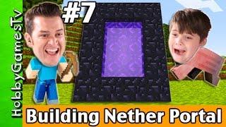 getlinkyoutube.com-Building a Nether Portal in Minecraft Survival Mode HobbyGuy #7 HobbyGamesTV
