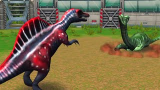 getlinkyoutube.com-Jurassic Park Builder - Battle Arena (Stage 1 to 50) : All DINOSAURS HD