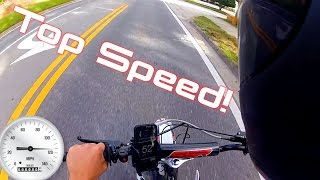 getlinkyoutube.com-SSR Pit Bike Top Speed!