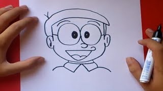 getlinkyoutube.com-Como dibujar a Nobita paso a paso - Doraemon | How to draw Nobita - Doraemon