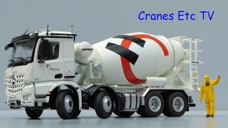 getlinkyoutube.com-NZG Mercedes-Benz Arocs Mixer Truck 'Holcim' by Cranes Etc TV
