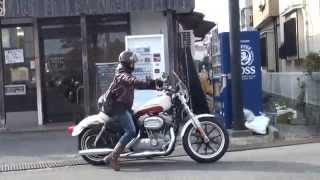 getlinkyoutube.com-女性ライダー 2015  XL883L Harley-Davidson ハーレーダビッドソン FLHXストリートグライド FLSTF ファットボーイ FLSTC ヘリテイジ ソフテイル
