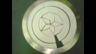 getlinkyoutube.com-Pepakura (papercraft )Captain America Movie Shield