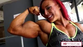 getlinkyoutube.com-HUGE FREAKY BICEPS - Katie Lee at HDPhysiques.tv