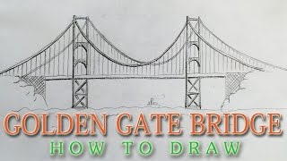 getlinkyoutube.com-How to draw the Golden Gate Bridge EASY - San Francisco landmark
