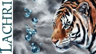 getlinkyoutube.com-Speed painting - how to oil paint a tiger - photorealistic time lapse tutorial by Lachri