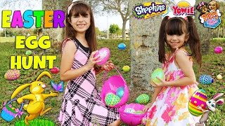 getlinkyoutube.com-EASTER EGG HUNT - Hidden Surprise Toys - Shopkins, Yowie Surprise Eggs, Puppy In My Pocket