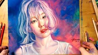 getlinkyoutube.com-Drawing TaeYeon, SNSD 소녀시대 태연 - Butterfly Kiss Concert Poster
