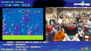 getlinkyoutube.com-Super Mario World - Speed Run in 0:10:37 by dram55 live for Awesome Games Done Quick 2013