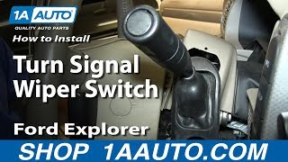 How To Install Replace Turn Signal Wiper Switch 2002-05 Ford Explorer Mercury Mountaineer