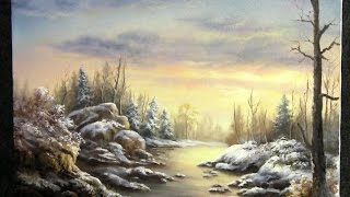 getlinkyoutube.com-Painting | Snowy Sunset | Paint with Kevin Hill