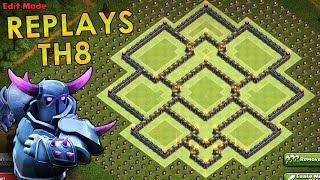 getlinkyoutube.com-Clash of Clans | TH8 Farming Base Replays | All Pekka/GoWiPe Defenses [2016]