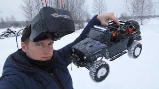 getlinkyoutube.com-RC новичок №5 ... Гоняем за рулем радиоуправляемого автомобиля в видеошлеме. FPV rc car